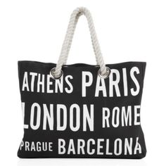 Cities Canvas Bag from Z Gallerie