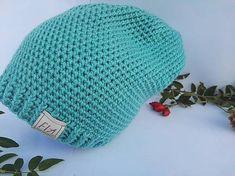 FIAhandmade / Čiapka mentolová Knitted Hats, Crochet Hats, Knitting, Knitting Hats, Tricot, Breien, Stricken, Weaving, Knits