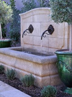 Wall Fountains Outdoor times three modern trough wall fountain | garden/outdoors