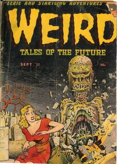 Comic Book Cover For Weird Tales of the Future v1 #3