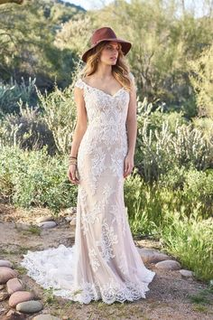 4cd5cb702a3 Style 6506  Venice Lace Off the Shoulder Illusion Back Gown