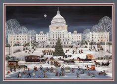 Such beautiful artwork on these Christmas cards by Carol Dyer of Annapolis, MD!