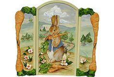 Three Panel Bunny Screen (vintage on One Kings Lane)