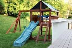 Need some ways to find a free or cheap wooden play structure for your backyard? Try these ideas for budget-friendly DIY outdoor play structures.