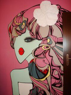 Culori vesele și accente industriale într-un loft din New York Beauty Studio, Colorful Decor, Wall Murals, Ibiza, Interior Design, Anime, Blog, Artist, Modern