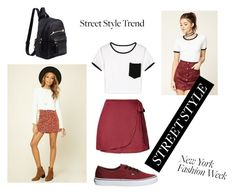 """""""Sin título #72"""" by march-d-la-march on Polyvore featuring moda, Forever 21, WithChic, Kendall + Kylie, Vans, StreetStyle y NYFW"""