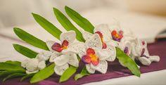 Crochet Orchid flower wedding bouquet