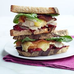 Turkey, Brie, Bacon, and Cranberry Sandwich