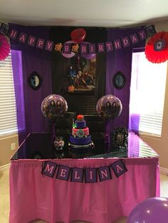 10th Birthday 7th Party Ideas Decorations Disney Descendants Planning