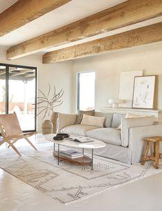 Boho Living Room, Home And Living, Living Room Decor, Living Spaces, Living Rooms, Simple Living, Rustic Modern Living Room, Earthy Living Room, Bedroom Decor