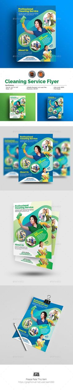 Cleaning Services Flyer by Cleaning Service Flyer, Cleaning Flyers, Domestic Cleaning Services, House Cleaning Services, Cleaning Companies, Spring Cleaning List, Illustrator Cs5, Cleaning Business, Business Flyer Templates