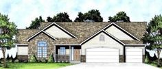 1625 sf Elevation of Ranch   Traditional   House Plan 62625   nice floor plan