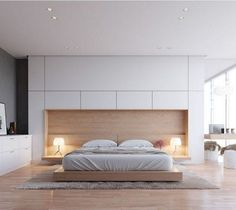 Comfortable and Minimalist Bedroom Ideas in a Budget – Bedroom Decor ideas - Bedroom Decor ideas Modern Master Bedroom, Stylish Bedroom, Modern Bedroom Design, Master Bedroom Design, Minimalist Bedroom, Home Decor Bedroom, Modern Bedrooms, Modern Design, Bedroom Furniture