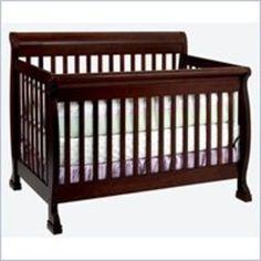 Da Vinci -DaVinci Kalani 4-in-1 Convertible Wood Baby Crib w, Toddler Rail in Espresso