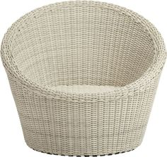 Calypso White Swivel Lounge Chair from Crate & Barrel outlet.  This chair is so versatile!