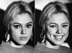 Edie Sedgwick. American heiress and Andy Warhol Superstar. Serious and smiling…