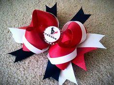 Houston Texans Hair Bow by USAFwife1981 on Etsy, $10.00