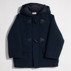 Mauro navy duffle coat