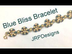 Blue Bliss Earrings-Beginner to Intermediate Beading Tutorial - YouTube