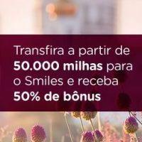Banco do Brasil e Smiles: 50% de bônus para conversões a partir de 50.000 pontos