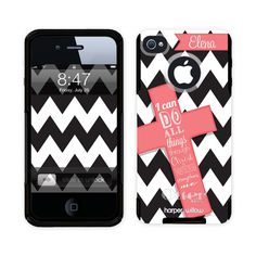 Genuine Otterbox Commuter Phone Case Custom Personalized/Monogram for iPhone 4 & 5 - Mod Cross Coral Verse 2172C-OTT on Etsy, $59.95