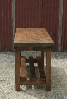 Rustic Vintage Style Industrial Workbench Table Kitchen Island Recycled Timber in VIC | eBay