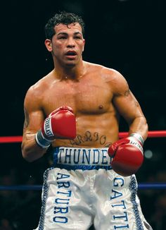 In my opinion the greatest fighter of all time. Cause of his heart and will...Arturo Gatti. R,I,P