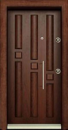 Steel Security Door Plans Acél Biztonsági Ajtó tervek 10 Steel Security D. Wooden Front Door Design, Wooden Front Doors, Room Door Design, Door Design Interior, Exterior Design, Modern Wooden Doors, Modern Door, Steel Security Doors, Aluminium