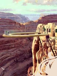 "glass walkway at grand canyon - everything in my being says, ""don't do it!"" :)"