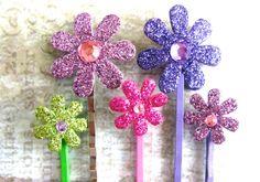 Flower Hair Accessories Flower Bobby Pins by EyeCandiShoppe