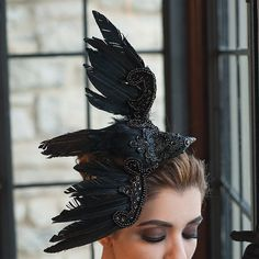 Gothic Raven Headband Oh my good lord I need this!!