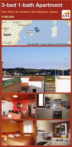 3-bed 1-bath Apartment in Son Vilar, Es Castell, Illes Balears, Spain ►€180,000 #PropertyForSaleInSpain