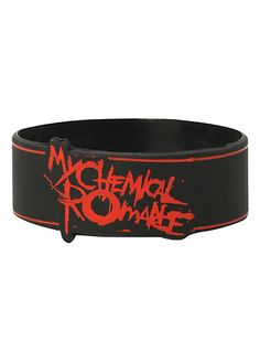 My Chemical Romance Lines Rubber Bracelet | Hot Topic