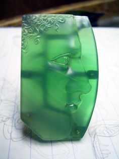 Green Agate Cameo Ring | SHINJI NAKABA