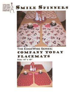 Sew fast and fun anyone can make a placemat in under 30 minutes!