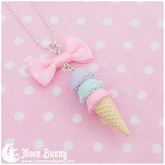 Pastel ice-cream necklace