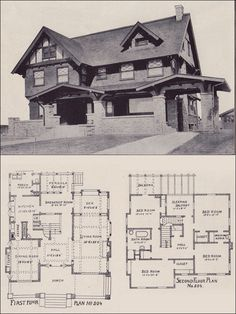 1912 California Arts & Crafts Style - Los Angeles Investment Company - Ernest McConnell, Architect