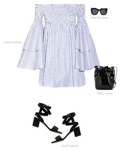 """Breezy"" by thatgemgirl ❤ liked on Polyvore featuring Caroline Constas, Mansur Gavriel and STELLA McCARTNEY"