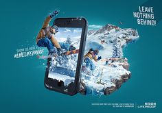 We made technology and utility combination pieces to look beautiful. Key visuals to launch the new iPhone 6 case, which accompanied the LifeProof booth during CES Conference in Las Vegas. Ads Creative, Creative Posters, Creative Advertising, Advertising Design, Creative Design, Web Design, Image Digital, Digital Art, Advertising Campaign
