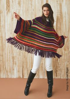 Some time, little patience and result: an incredible crochet poncho for women #crochetpatterns #crochetponchos #howtocrochetaponcho
