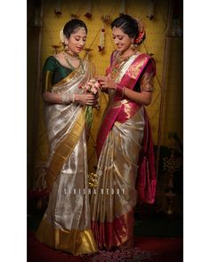 Latest Bridal Saree Designs are Pastel Shades of Kanjeevaram Bridal saree collection. Peach shade sarees, Lilac bridal sarees, Purple kanchipuram sarees, Turquoise Sarees, Mint shade saree designs and many more collection in handloom sarees Bridal Sarees South Indian, Bridal Silk Saree, Indian Bridal Fashion, South Indian Bride, Chiffon Saree, Saree Dress, Wedding Saree Blouse Designs, Pattu Saree Blouse Designs, Kanchipuram Saree Wedding