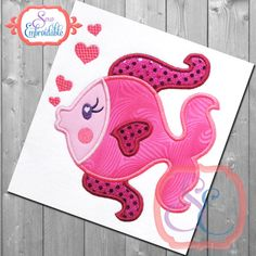 This free embroidery design from Adorable Applique is a whale
