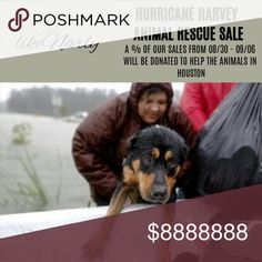 HELP THE ANIMALS IN HOUSTON! As I'm reading the news online and seeing photos of Hurricane Harvey, it absolutely breaks my heart to see the effects that this major natural disaster has had on families, animals, homes, business and more!   I am a dog mom of 2 rescues so from today (08/30) until next Wednesday (09/06) a % of my sales will be donated to the Greater Good Foundation - Hurricane Harvey Animal Rescue. I personally have already donated to this cause and I would love to be able to…