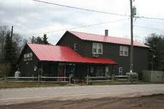 Best Red Roof Grey With White Trim Cabin Metal Roof Red 400 x 300