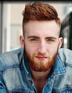 20 sumptuous shaved sides hairstyles and haircuts for men. Ideas for shaved sides for men hairstyle. Redhead Hairstyles, Shaved Side Hairstyles, Vintage Hairstyles, Ginger Men, Ginger Beard, Girl Haircuts, Haircuts For Men, Army Haircut, Military Cut