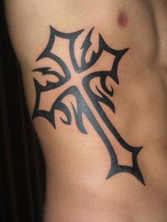 cross tattoos for men | star arm tattoo black and white cross tattoo celtic cross tattoo ...