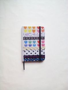 Decoupage notebook, cute idea for gift. #decoupage #notebook #agenda #cuaderno #journal #hearts #colorful #original #dots #black #white #cute #lovely #sweet