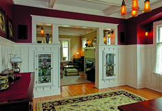 Gorgeous Bungalow colonnade between the living and dining rooms