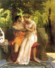 L'idylle - 1850 William-Adolphe Bouguereau