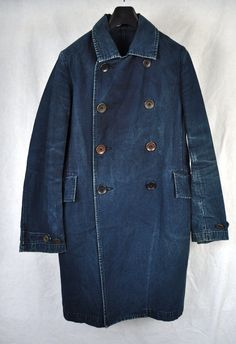 45 RPM Indigo Dyed Peacoat | DIRTY CULTURE